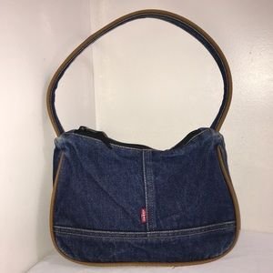 Levi's Jeans Y2K Denim Blue Jean Seam Shoulder Bag